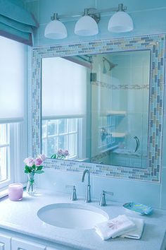 Tile Mirror Frame Design, Pictures, Remodel, Decor And Ideas