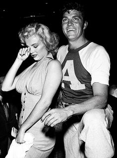 """mostlymarilynmonroe: """"    Biographer Michelle Morgan interviewed Dale Robertson for her 2007 book, Marilyn Monroe: Private and Undisclosed. 'We would go to ball games together and she was very..."""