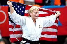 Kayla Harrison-yeah! Gold in 78k judo. First gold for US EVER in Judo.