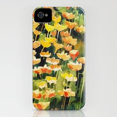 California Popies iPhone Case by Denise Comeau - $35.00