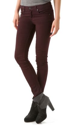 Rag & Bone/JEAN Skinny Jeans- loving this color for Fall. Pair with blush pink or navy blue.
