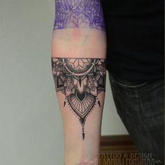 Risultati immagini per half sleeve lower arm tattoo designs girl Arm Cover Up Tattoos, Lower Arm Tattoos, Girl Arm Tattoos, Full Sleeve Tattoos, Forearm Tattoos, Body Art Tattoos, Tatoos, Mandala Tattoo Design, Half Mandala Tattoo