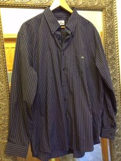 LACOSTE Dress Shirt, Size: 44, 100% Cotton, Made in Spain #Lacoste #Shirt #LacosteShirt