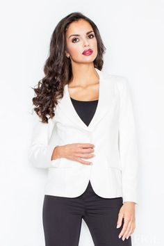 Take a look at this Ecru Fitted Notched Lapel Blazer today! Blazer Buttons, International Fashion, Blazers For Women, Classy Outfits, Classy Clothes, Fashion Addict, Skater Dress, Preppy, Tommy Hilfiger