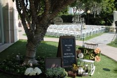 Wedding at our garden.  InterContinental Los Angeles at Beverly Hills Hotel #outdoorweddings