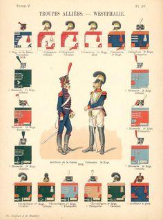Королевство Вестфалия. Союзные войска. Uniformes de I'Armee Francaise 1690-1894…