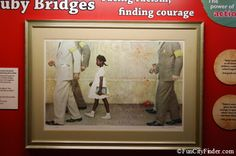 Norman Rockwell Painting at Children's Museum of Indianapolis of Ruby Bridges.