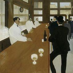 "Jean Émile Laboureur 1904 ""Bar in Pennsylvania"""