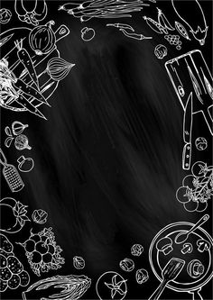 New Wood Design Cafe Chalk Board Ideas Food Graphic Design, Food Poster Design, Food Menu Design, Restaurant Menu Design, Food Background Wallpapers, Food Backgrounds, Chalkboard Lettering, Menu Template, Food Illustrations