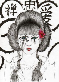 Geisha in a mask