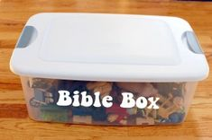 This Bible Box is nothing short of awesomeness! Great visual aid for leading your kids through Bible stories. Lots of creative, inexpensive ideas to build off of.