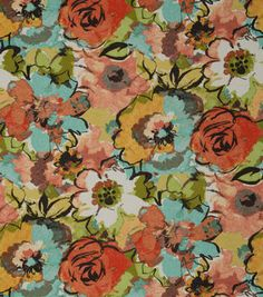 Home Decor Fabric - Shop by the Yard Outdoor Upholstery Fabric, Outdoor Fabric, Home Decor Fabric, Fabric Crafts, Patio Seating, Patio Chairs, Orange And Turquoise, Fresco, Fabric Design
