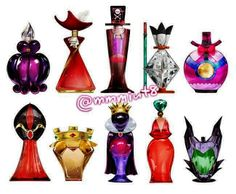 Disney Villains Perfume Collection... OMG I WANT!!! Hey I love to with my collection......