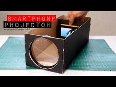 Build A Smartphone Projector With A Shoebox - YouTube