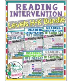 Save 20% on the Reading Intervention Program for Big Kids (Levels H-K) by purchasing this Bundle. That's like getting one whole month for FREE!!** This bundle includes 5 months (100 days) of everything needed for a reading intervention program with students whose reading levels range from Fountas and Pinnell Levels H-K.