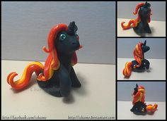 Polymer Clay: Candycorn Pony by iChame on deviantART