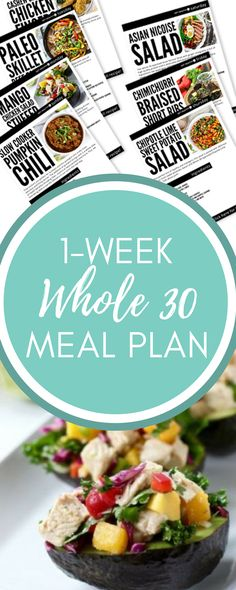 The Whole 30 Program has become popular in recent years as the latest diet on the market. And while we don't advocate for any certain diet here at Get Healthy U, we are all about eating real food which is one of the Whole 30s biggest components. So if you're already on the Whole 30 Plan or are wanting to make a (big!) change, then this week-long meal plan of Whole 30 recipes will help you on your way.
