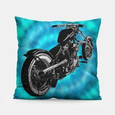 Biker Blues throw pillow