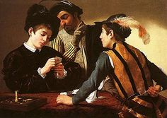 Caravaggio -(The Cardsharps) (1594) - Google Search