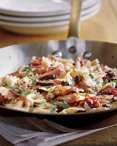 Tuna and Farfalle Puttanesca Recipe