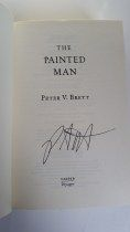 The Painted Man by Peter V Brett   Published by HarperVoyager 1/9/08.  544 pages.  ISBN 978-0-00-727613-4  Signed, First Edition, Hardcover  Purchased Unsigned from Charity Shop £2  Signed at Forbidden Planet, London