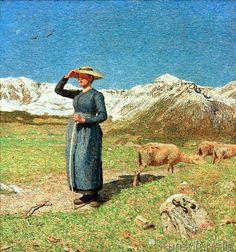 Giovanni Segantini - Mezzogiorno sulle Alpi