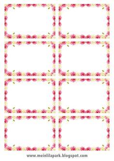 free digital rose frame png + printable tags - Rosenrehmen - freebie | MeinLilaPark – DIY printables and downloads