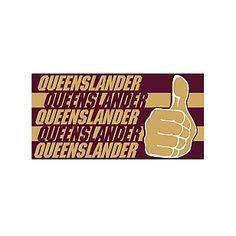 QLD Maroons Thumbs Up Medium Banner