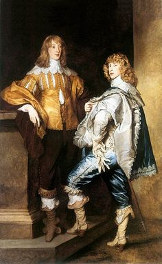 Lord John and Lord Bernard Stuart...brothers who died in the English Civl War...by Anthony Van Dyke circa 1638