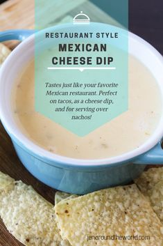 restaurant dinner This is the cheese dip that everyone dreams about! If you love your local Mexican Restaurant Cheese dip, you will love this copycat version. It tastes just like the real deal -- and the best part It is so simple and easy to make. Quesadillas, Yummy Appetizers, Appetizer Recipes, Mexican Appetizers, Burritos, Empanadas, Enchiladas, Sauce Recipes, Cooking Recipes