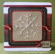 snowflake stitched card