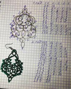 Tatting Earrings, Tatting Jewelry, Diy Jewelry, Needle Tatting, Tatting Lace, Tatting Patterns, Iris, Needlework, Cross Stitch