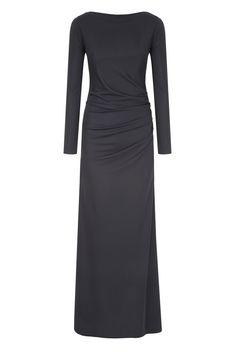 Fran & Jane Moki 6 - Black Backless Jersey Maxi Dress - €259.00