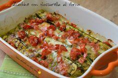 Zucchine con mozzarella al forno - Vorrei diventare una brava cuoca....