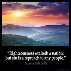 Proverbs 14:34 (KJV)