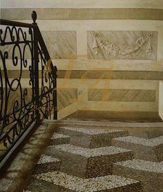 Палаццо Джустиньян, г. Венеция, Италия - полы терраццо 17 века