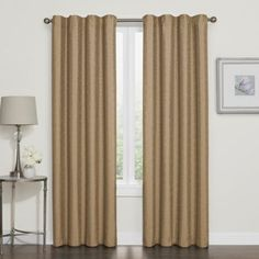 Product Image for Darcy Blackout Grommet Top Window Curtain Panel 1 out of 1 Window Treatments Living Room, Living Room Windows, Living Rooms, Cool Curtains, Window Curtains, Blackout Windows, Blackout Curtains, Beautiful Blinds, Cheap Blinds
