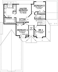 Home Plans HOMEPW03896 - 3,272 Square Feet, 5 Bedroom 3 Bathroom Victorian Home with 2 Garage Bays