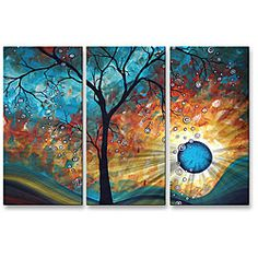 @Overstock - Bring a splash of surreal beauty to your home's walls with this metal wall sculpture by Megan Duncanson. This metal artwork features a unique brushed metal design which creates a three dimensional visual effect comparable to a hologram.  http://www.overstock.com/Home-Garden/Megan-Duncanson-Aqua-Burn-Metal-Wall-Art/6735569/product.html?CID=214117 $206.99