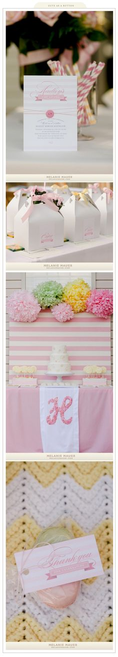 Melanie Mauer photography, great party - love the pink stripe background