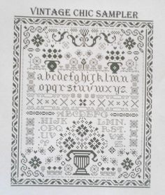 Cross Stitch and Blackwork Traditional Style Sampler £2.75
