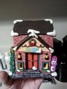 The 14th house i have painted for my Christmas village by Lauren Brady!!