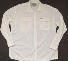 8f13716974 Columbia GRT Mens Fishing Hiking Shirt XXL White Long Sleeve Lightweight  Vented #Columbia #Hiking
