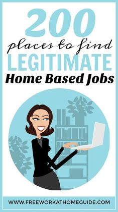 The HUMUNGOUS list of 200 places to find legitimate work from home jobs - Free Work at Home Guide http://www.freeworkathomeguide.com