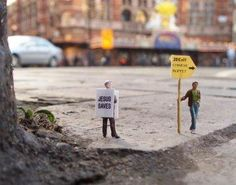 Little People Project - Street Photography by Slinkachu