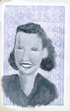 Portrait Study No 3 Original Acrylic Painting on by JuliaWrightArt on Etsy.