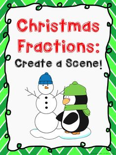 Students create a snowman while working with fractions. This could be used later in winter, since it does not refer directly to the holiday. Free on TpT from Kalena Baker. Teaching Math, Primary Teaching, Elementary Teaching, Teaching Style, Teaching Ideas, Christmas Math Worksheets, Christmas Maths, Christmas Time, Math Activities