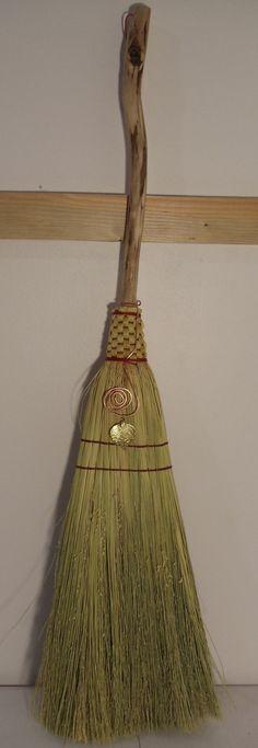 Hand woven hearth broom Appalachian tradition by JChoateBasketry, $55.00