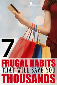 7 Frugal Habits that will save you THOUSANDS! I saved $200 the first month that I started doing these things. I never would have thought that #5 would save me money, but it really does!!