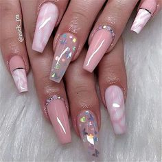The most popular Coffin Nails Designs come. You can draw great inspiration from each of these beautiful nails! Get ready to save it all! Summer Acrylic Nails, Best Acrylic Nails, Swag Nails, My Nails, Glitter Nails, Glittery Acrylic Nails, Grunge Nails, Neon Nails, Nagellack Design